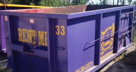 10 yard dumpster bin rental